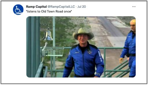 Jeff Bezos wearing a cowboy hat
