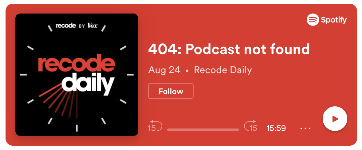 404: Podcast not found