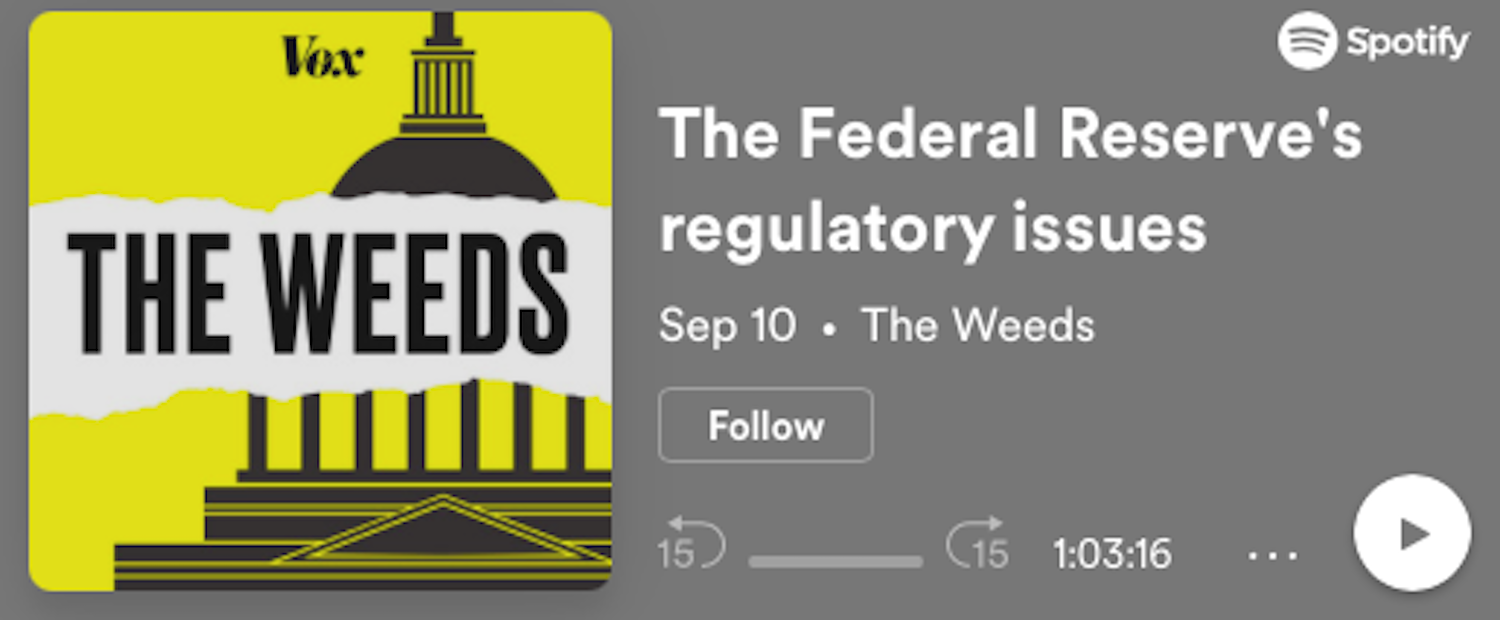The Federal Reserve's regulatory issues
