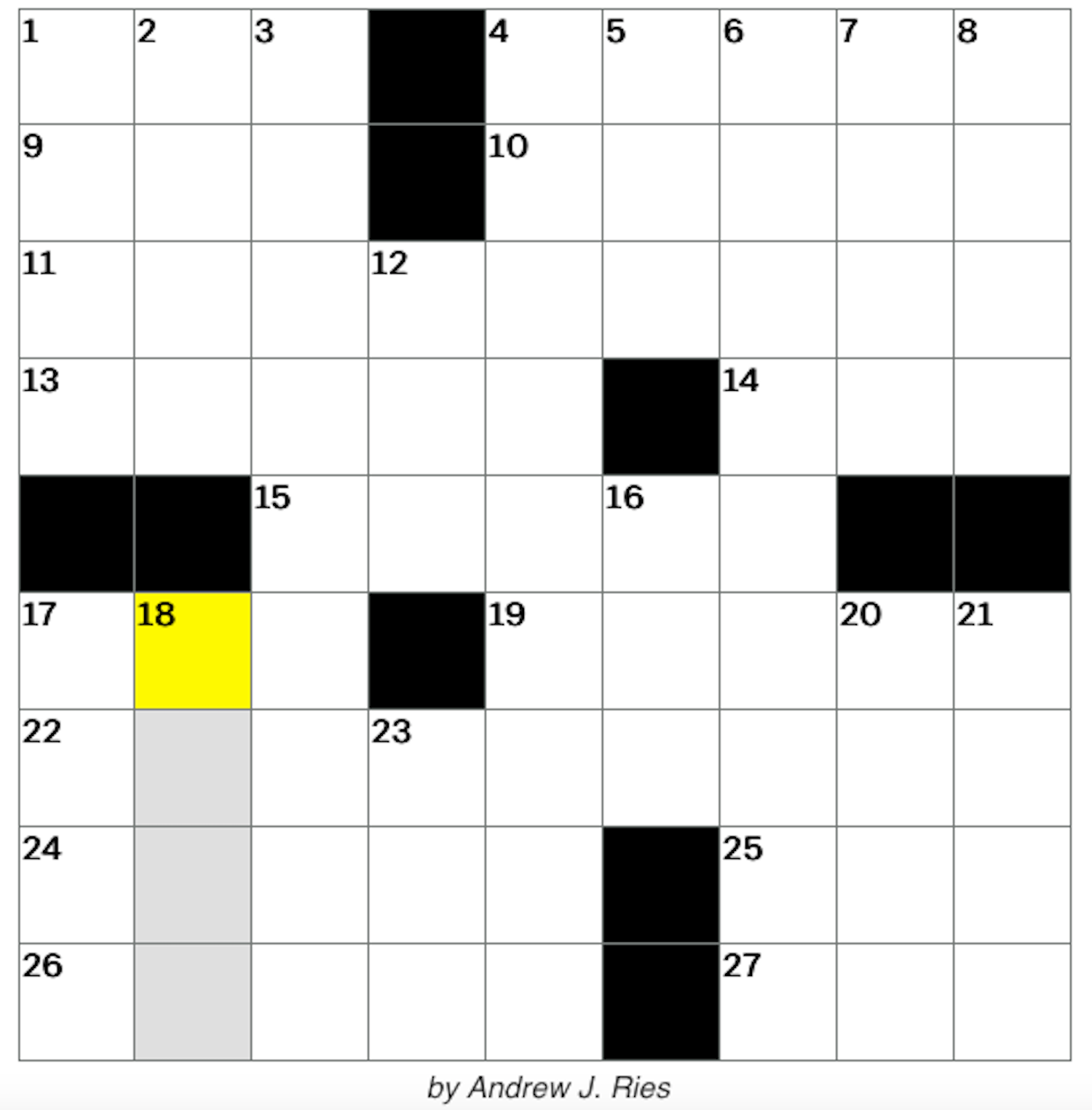 Crossword of the Day