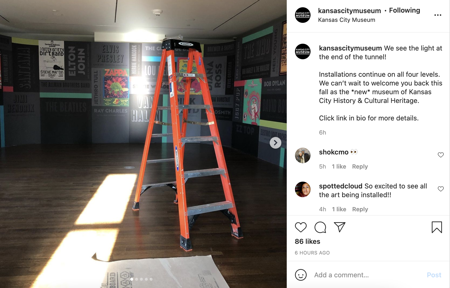 Picture of ladder inside KC Museum